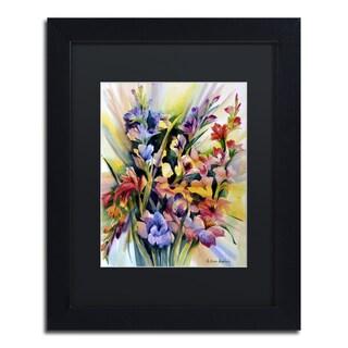Rita Auerbach 'Glad Bursts' Framed Canvas Wall Art