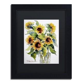 Rita Auerbach 'Sunflowers' Framed Canvas Wall Art