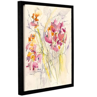 ArtWall Karin Johannesson 'Wildflowers' Gallery-wrapped Floater-framed Canvas