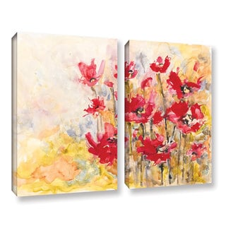 ArtWall Karin Johannesson 'Wildflowers Ii' 2 Piece Gallery-wrapped Canvas Set