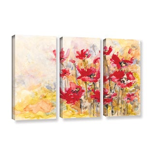 ArtWall Karin Johannesson 'Wildflowers Ii' 3 Piece Gallery-wrapped Canvas Set