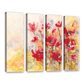 ArtWall Karin Johannesson 'Wildflowers Ii' 4 Piece Gallery-Wrapped Canvas Set
