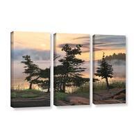 ArtWall Ken Kirsh 'Auburn Evening' 3 Piece Gallery-wrapped Canvas Set