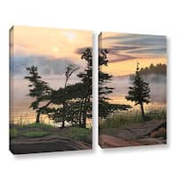 ArtWall Ken Kirsh 'Auburn Evening' 2 Piece Gallery-wrapped Canvas Set