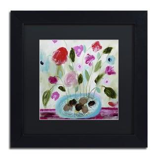 Carrie Schmitt 'Winter Blooms II' Framed Canvas Wall Art