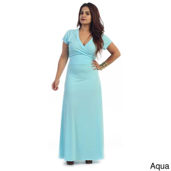 Shop Women\'s Plus Size Short Sleeve Maxi Dress - Free ...