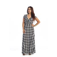 Women's Plus Size Maxi Abstract Dress