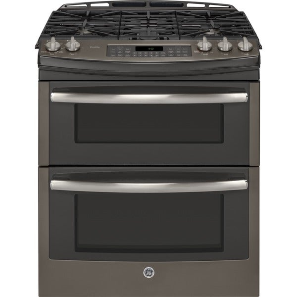 Double Oven Slide In Electric Range Stainless Steel GE Profile Series 30-inch Slide-in Double Oven Gas Range ...