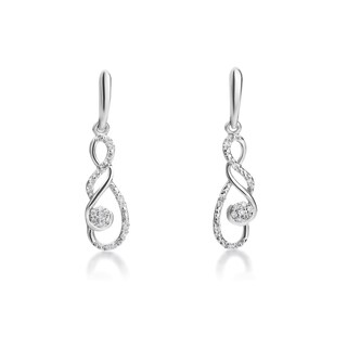 SummerRose 14k White Gold 1/6ct TDW Diamond Fashion Earrings (H-I, SI1-SI2)
