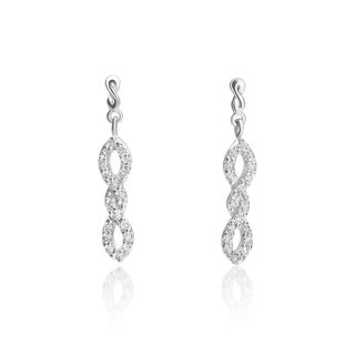 SummerRose 14k White Gold 1/3ct TDW Fashion Earrings (H-I, SI1-SI2)