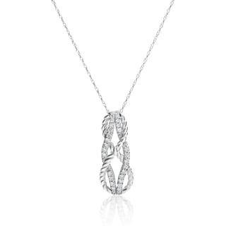 SummerRose 14k White Gold 1/3ct TDW Diamond Fashion Pendant