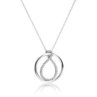 SummerRose 14k White Gold 1/6ct TDW Diamond Fancy Pendant