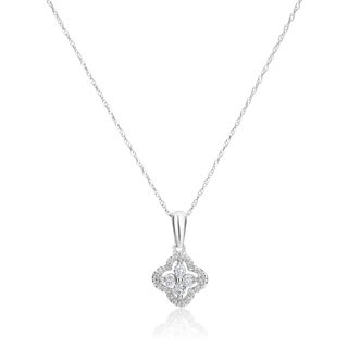 SummerRose 14k White Gold 1/4ct TDW Diamond Pendant (H-I, SI1-SI2)