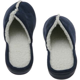 Deluxe Comfort Men's Memory Foam Suede Lamb Fleece House Slippers