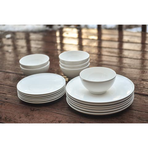 Red Vanilla Every Time White 18Pc Dinner Set