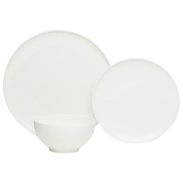 Red Vanilla Everytime White 18-piece Dinner Set (Service for 6)