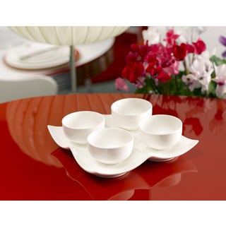 Vanilla Fare Set of 4 3-inch 4-ounce Bowls with 8-ounce Tray