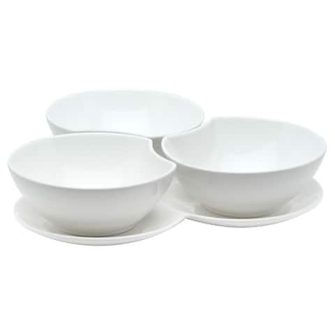 Vanilla Fare 16oz 3 Bowls/ Tray Set