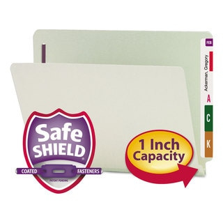 Smead Gray Green One Inch Expansion Folder (Box of 25)