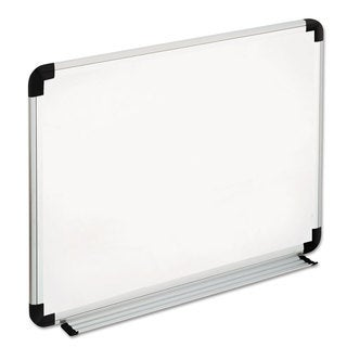 Universal White, Black/Gray Dry Erase Board