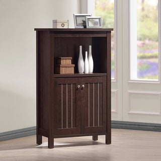Cyclo Modern and Contemporary Dark Brown Sideboard Storage Cabinet with Two Doors