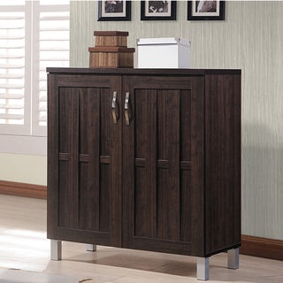 Baxton Studio Excel Dark Brown 2-door Contemporary Storage Cabinet