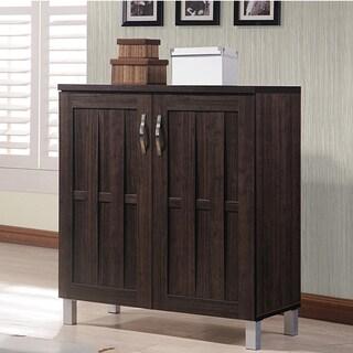 dark brown storage cabinet by baxton studio
