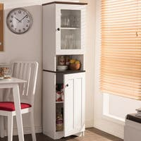 Baxton Studio Traditional White Wood Kitchen Storage