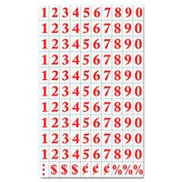 Red Magnetic Numbers & Dates