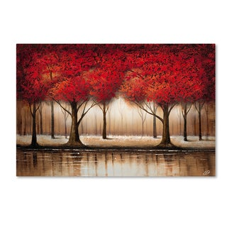 Rio 'Parade of Red Trees' Gallery Wrapped Canvas Wall Art