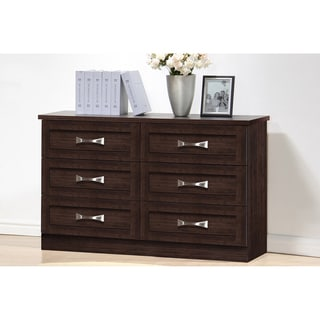 Colburn Modern and Contemporary 6-Drawer Dark Brown Finish Wood Storage Dresser