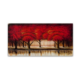 Rio 'Parade of Red Trees II' Gallery Wrapped Canvas Wall Art