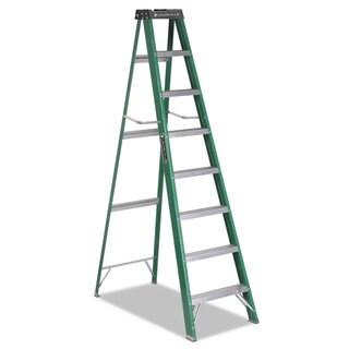Louisville #592 Eight-Foot Green/Black Folding Fiberglass Step Ladder
