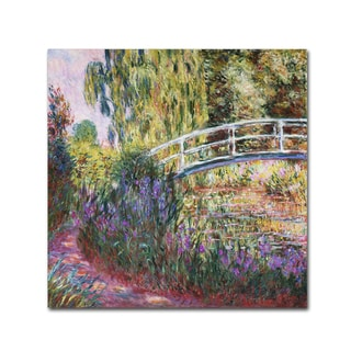 Monet 'The Japanese Bridge IV' Gallery Wrapped Canvas Wall Art
