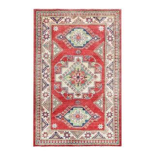 Herat Oriental Afghan Hand-knotted Tribal Vegetable Dye Kazak Wool Rug (3'4 x 5'1)