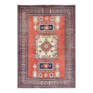 Herat Oriental Afghan Hand-knotted Tribal Vegetable Dye Kazak Wool Rug (2'11 x 4'4)