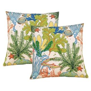 Atlantis Outdoor 17-inch Throw Pillow (Set of 2)