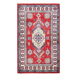 Herat Oriental Afghan Hand-knotted Tribal Vegetable Dye Kazak Wool Rug (3'x 5')