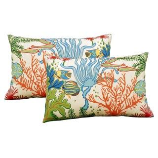Atlantis Outdoor 20-inch Throw Pillow (Set of 2)