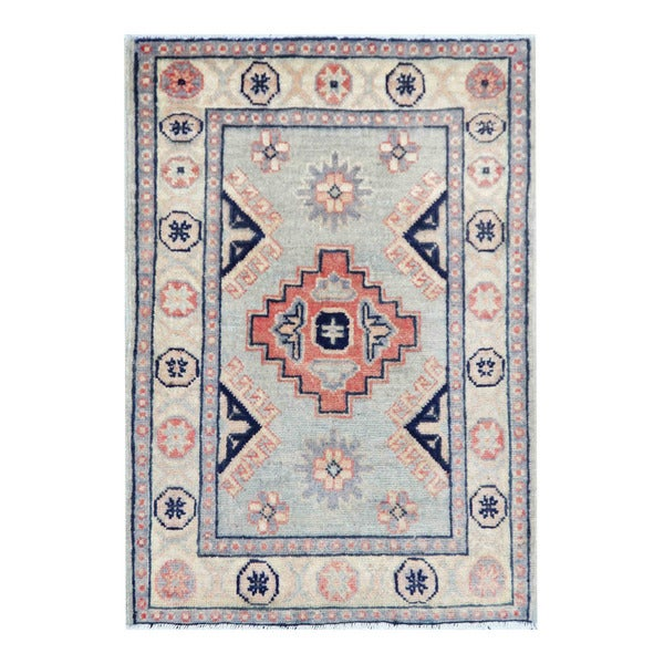 Vegetable Dyed Hand Knotted Floral Oushak Ivory Persian: Herat Oriental Afghan Hand-knotted Tribal Vegetable Dye