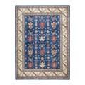 Herat Oriental Afghan Hand-knotted Tribal Vegetable Dye Kazak Wool Rug (8'10 x 12'3)