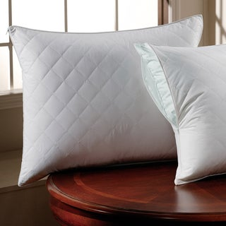 300 Thread Count Cotton Sateen Quilted Pillow Protector with Zipper (Set of 2) (4 options available)