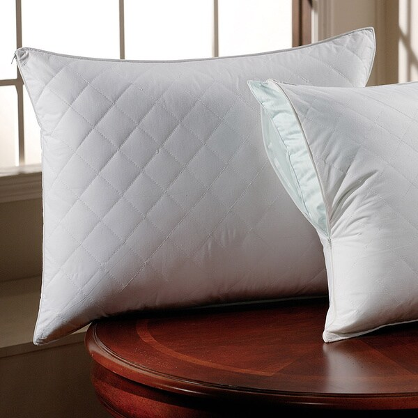 300 Thread Count Cotton Sateen Quilted Pillow Protector with Zipper (Set of 2)