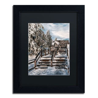Lois Bryan 'Watch Your Step' Black Framed Canvas Wall Art