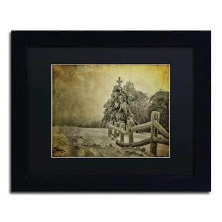 Lois Bryan 'Oh Christmas Tree' Black Framed Canvas Wall Art