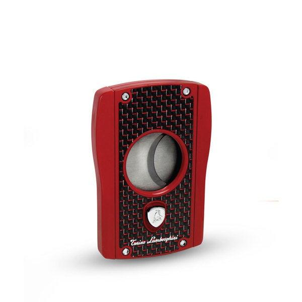 Tonino Lamborghini Aldebaran Red Matte - Red Carbon Fiber Cigar Cutter