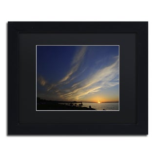 Kurt Shaffer 'Sweeping Sunset' Black Framed Canvas Wall Art