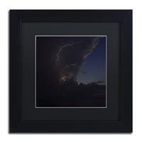 Kurt Shaffer 'Sunset Thunderhead #2' Black Framed Canvas Wall Art