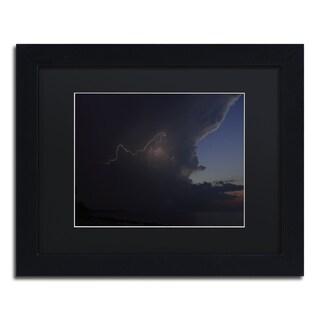 Kurt Shaffer 'Sunset Thunderhead #3' Black Framed Canvas Wall Art