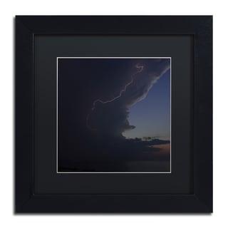 Kurt Shaffer 'Sunset Thunderhead #1' Black Framed Canvas Wall Art